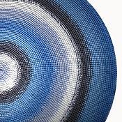 Для дома и интерьера ручной работы. Ярмарка Мастеров - ручная работа Вязаный коврик Gray&Blue круглый ручная работа. Handmade.