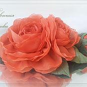 Свадебный салон ручной работы. Ярмарка Мастеров - ручная работа Цветы в причёску Коралловые розы. Handmade.