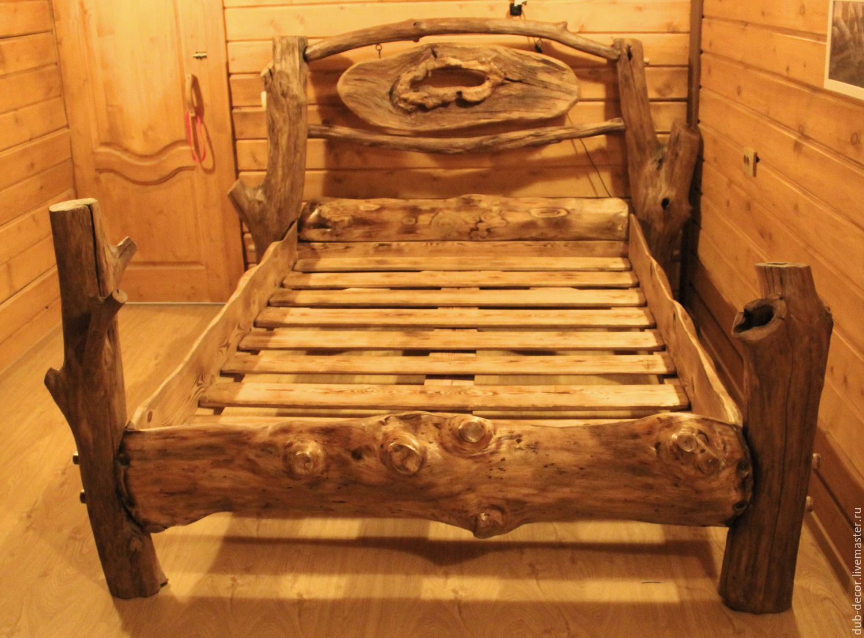 Сделать кровать из дерева своими руками