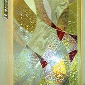 Для дома и интерьера ручной работы. Ярмарка Мастеров - ручная работа витражное панно в дверь. Handmade.