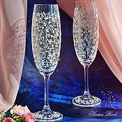 Свадебный салон ручной работы. Ярмарка Мастеров - ручная работа Свадебные бокалы Мари. Handmade.