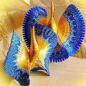 Народные сувениры ручной работы. Ярмарка Мастеров - ручная работа Синяя птица счастья, старинный домашний оберег, дерево роспись. Handmade.