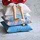 Куклы Тильды ручной работы. Ярмарка Мастеров - ручная работа. Купить Принцесса-на-горошине (с ложкой). Handmade. Голубой, горошина