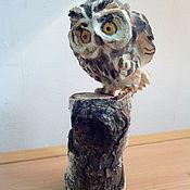 Для дома и интерьера ручной работы. Ярмарка Мастеров - ручная работа Сова- резьба по дереву. Handmade.