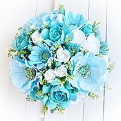 Цветы и флористика handmade. Livemaster - original item flowers in pots. turquoise. Handmade.