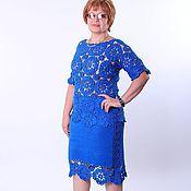 """Одежда ручной работы. Ярмарка Мастеров - ручная работа Костюм """"Безумно синий"""" резерв. Handmade."""