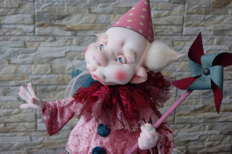 Кукла Клоун Манюнь, Мягкие игрушки, Москва,  Фото №1