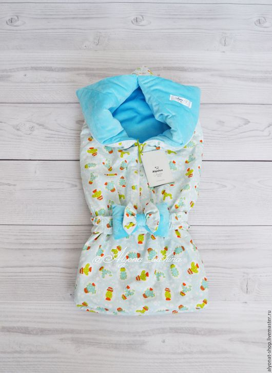 Для новорожденных, ручной работы. Ярмарка Мастеров - ручная работа. Купить Одеялко-конверт (трансформер)демисезон. Handmade. Серый, одеялко