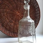 Винтаж ручной работы. Ярмарка Мастеров - ручная работа Винтажный графин для вина ссср. Handmade.