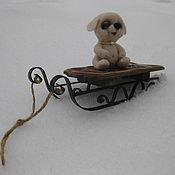 """Куклы и игрушки ручной работы. Ярмарка Мастеров - ручная работа Щеночек """"Кнопка"""" Сухое валяние авторская ручная работа. Handmade."""