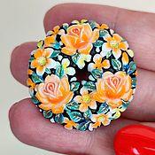 Винтаж handmade. Livemaster - original item Toshikane Japan Rose pendant brooch 50-60 g.. Handmade.