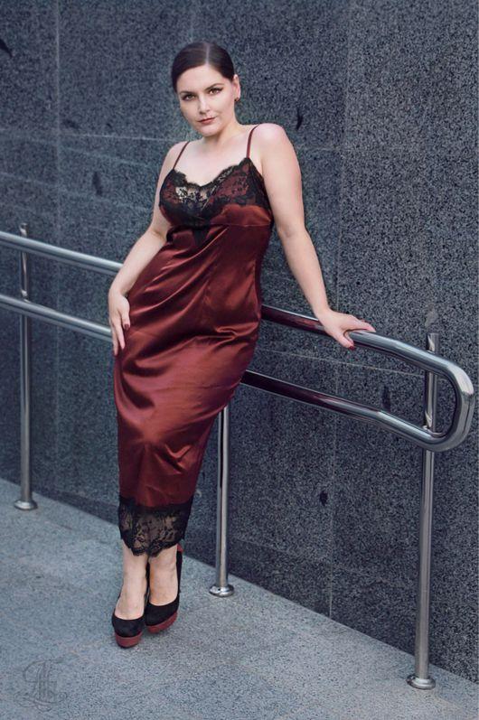 Платья ручной работы. Ярмарка Мастеров - ручная работа. Купить Платье -комбинация YULIYA LEV. Handmade. Шелковое платье, комбинация