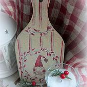 Подарки к праздникам ручной работы. Ярмарка Мастеров - ручная работа Доска Рождественский гном. Handmade.