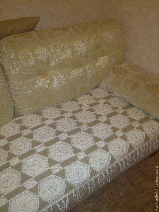 Текстиль, ковры ручной работы. Ярмарка Мастеров - ручная работа. Купить Плед-покрывало. Handmade. Белый, уютный плед