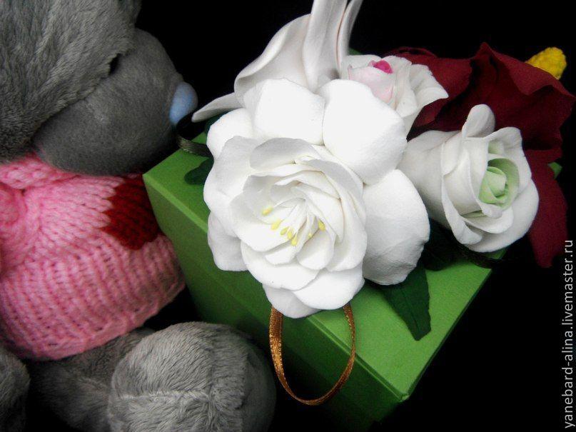 Коробочки для подарков + цветы из полимерной глины