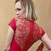Одежда ручной работы. Ярмарка Мастеров - ручная работа Маленькое красное платье. Handmade.