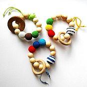 Куклы и игрушки ручной работы. Ярмарка Мастеров - ручная работа Грызунок-прорезыватель Кольцо. Handmade.