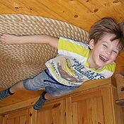 Для дома и интерьера ручной работы. Ярмарка Мастеров - ручная работа Большой толстый коврик из джутового каната(круглый).. Handmade.