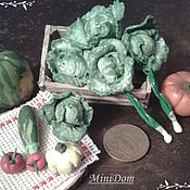 Куклы и игрушки handmade. Livemaster - original item Cabbage, vegetables for Dollhouse miniature Food for dolls. Handmade.