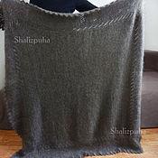 Аксессуары handmade. Livemaster - original item Down shawl, hand-knitted, 135h130cm, 130. Handmade.