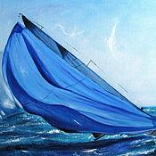 Картины и панно ручной работы. Ярмарка Мастеров - ручная работа Яхтинг VI (вар. 2). Handmade.