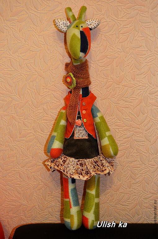 Куклы Тильды ручной работы. Ярмарка Мастеров - ручная работа. Купить Жираф. Handmade. Жирафик, жирафа, флис, шерсть, микровельвет