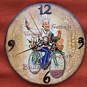 """Для дома и интерьера ручной работы. Ярмарка Мастеров - ручная работа Часы настенные """"Повар"""". Handmade."""