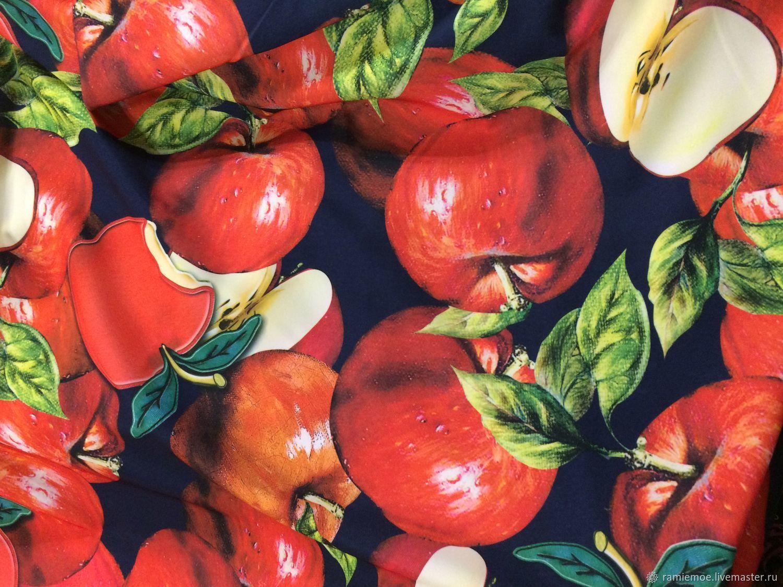 Dolce & Gabbana Трикотаж а-ля скуба плотный Яблочки – купить в интернет-магазине на Ярмарке Мастеров с доставкой