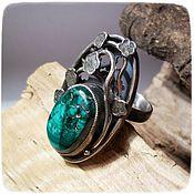 Украшения handmade. Livemaster - original item Malachite Ural ring