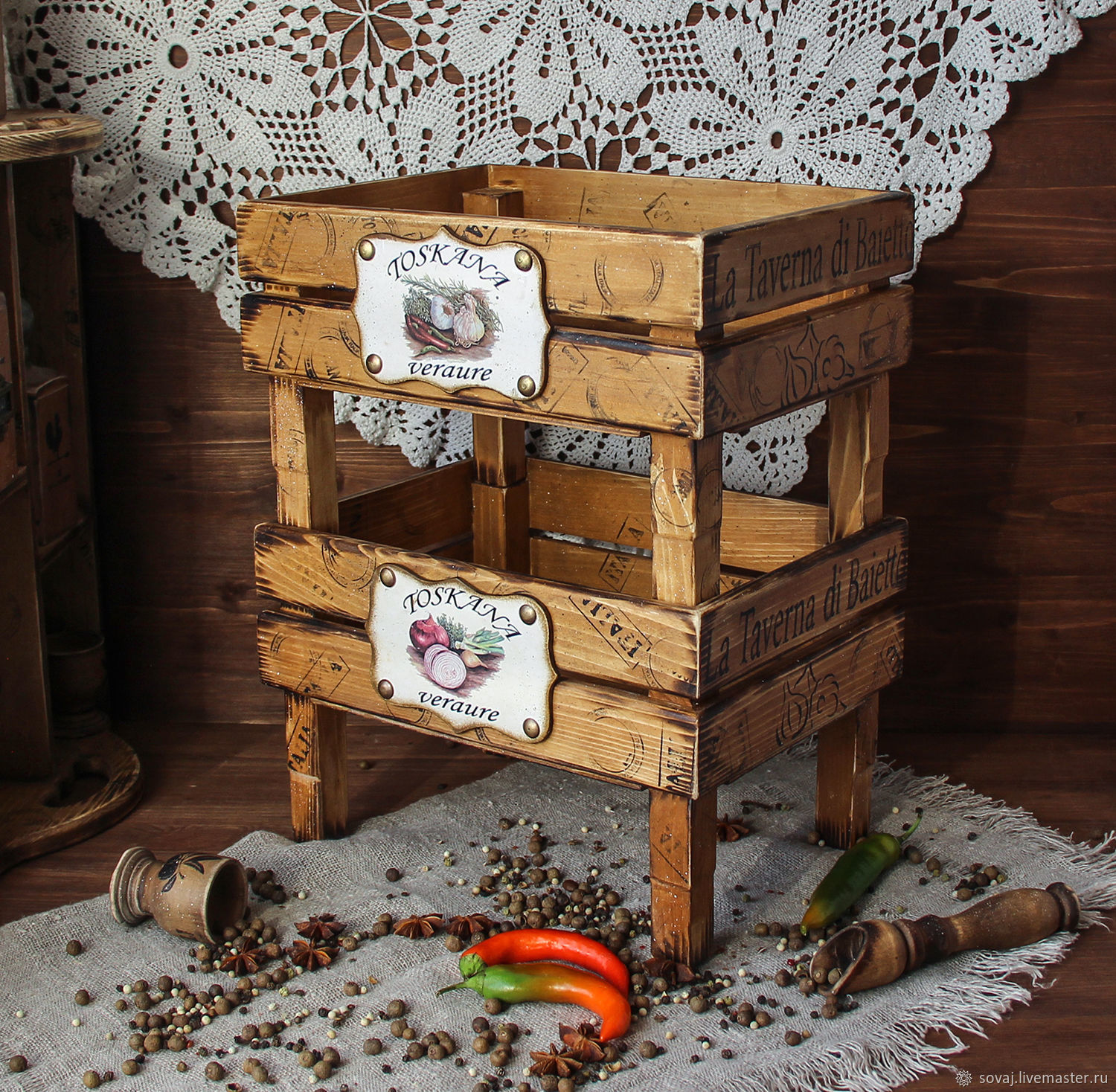 Shelves for fruit and vegetables ' Autumn in Tuscany', Basket, ,  Фото №1