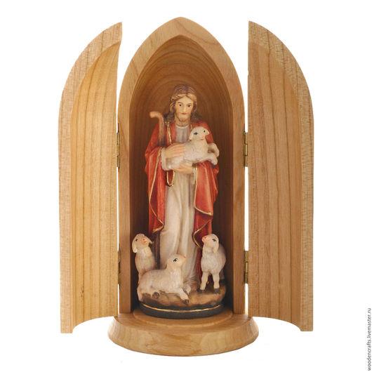 Подарки на Пасху ручной работы. Ярмарка Мастеров - ручная работа. Купить Иисус в нише. Handmade. Комбинированный, подарок на рождество, дерево