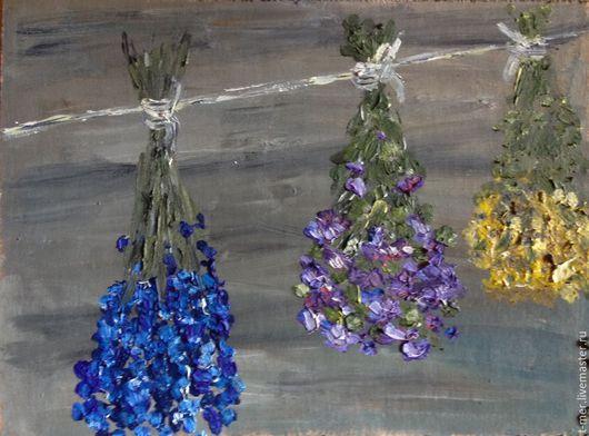 """Картины цветов ручной работы. Ярмарка Мастеров - ручная работа. Купить Картина """"Травы"""". Handmade. Фиолетовый, картина в подарок, прованс"""