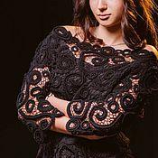 Пиджаки ручной работы. Ярмарка Мастеров - ручная работа Жакет связан крючком в ирландском кружеве, ажурный « Ажур». Handmade.