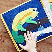 Куклы и игрушки ручной работы. Ярмарка Мастеров - ручная работа Хамелеон. Handmade.