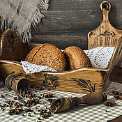 """Для дома и интерьера ручной работы. Ярмарка Мастеров - ручная работа Хлебница-сухарница кантри """" Полдень в Италии"""" большая. Handmade."""