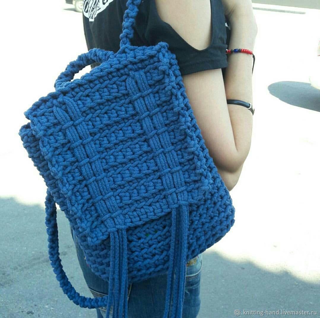 26880acf95d ручной работы. Ярмарка Мастеров - ручная работа. Купить Вязаный рюкзак.  Handmade.