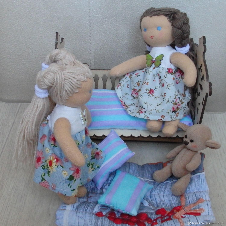 Вальдорфская кукла Сестрички, вальдорфская игрушка, Вальдорфские куклы и звери, Балахна,  Фото №1