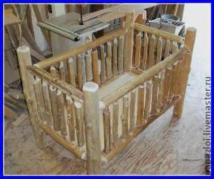 Детская ручной работы. Ярмарка Мастеров - ручная работа. Купить Детская кроватка. Handmade. Кроватка, из дерева, деская кроватка