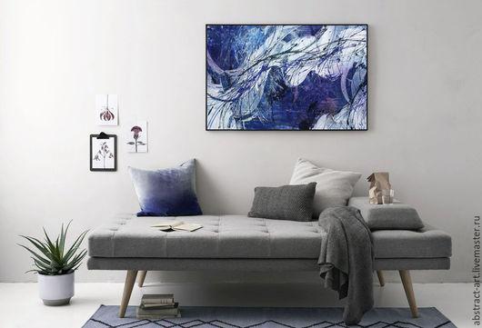 картина абстракция, картина интерьер, купить картину в москве, картины купить в интернет магазине, картина продажа, синяя картина, большие картины, яркие картины, галерея картин, арт картины
