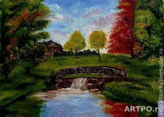 """Пейзаж ручной работы. Ярмарка Мастеров - ручная работа. Купить Картина """"Осенний пейзаж"""". Handmade. Живопись, живопись маслом, реализм"""