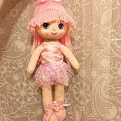 Куклы и игрушки ручной работы. Ярмарка Мастеров - ручная работа Мягкая куколка балеринка. Handmade.