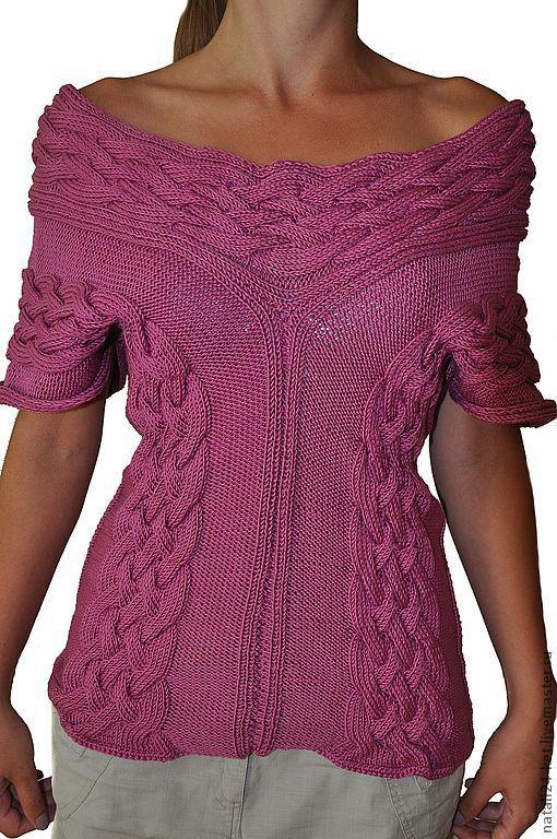 Кофты и свитера ручной работы. Ярмарка Мастеров - ручная работа. Купить жилет лиловый. Handmade. Женская одежда, вязание на заказ