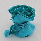"""Аксессуары ручной работы. Ярмарка Мастеров - ручная работа """"Ламинария"""" шарфик с двойным воланом. Handmade."""