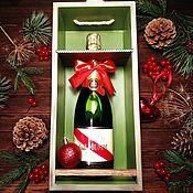 Подарки к праздникам handmade. Livemaster - original item Box for wine or champagne. Handmade.