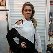 """Одежда ручной работы. Ярмарка Мастеров - ручная работа Жакет-трансформер """"Шиворот-навыворот"""". Handmade."""