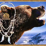Фен-шуй и эзотерика ручной работы. Ярмарка Мастеров - ручная работа Дух Медведя ожерелье. Handmade.