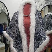 Свадебный салон ручной работы. Ярмарка Мастеров - ручная работа Шаль-косынка из платка серые огурцы. Handmade.