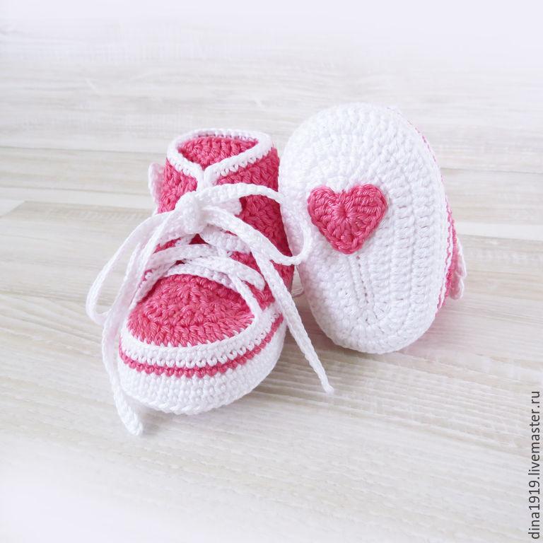 Вязание кеды для девочек