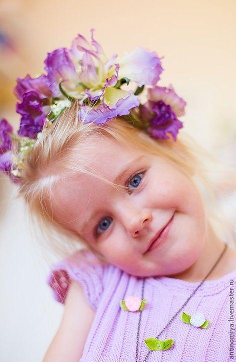 """Диадемы, обручи ручной работы. Ярмарка Мастеров - ручная работа. Купить Ободок """"Сны Береники"""". Цветы из шелка, цветы из ткани,ободок с цветами. Handmade."""