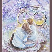 Картины и панно ручной работы. Ярмарка Мастеров - ручная работа Наши лиловые мечты - картина пастелью. Handmade.
